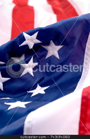 America stock photo, Closeup of an American flag by Vince Clements