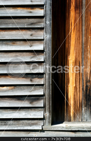 Weathered wood stock photo, Abstract of old weathered wood siding by Vince Clements