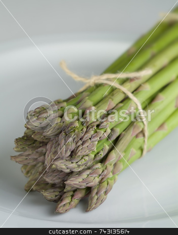 Asparagus on a white  stock photo, Asparagus on a white by Vince Clements