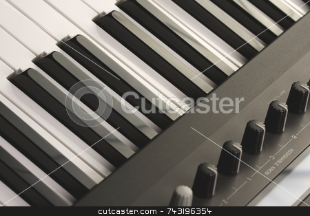 Abstraact Digital Piano stock photo, Abstraact Digital Piano Keyboard & Controls by Andy Dean