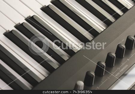 Abstraact Digital Piano stock photo, Abstraact Digital Piano Keyboard & Controls by Andy Dean