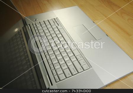 Angled Laptop Image on Desk stock photo, Angled Laptop Image on Desk by Andy Dean