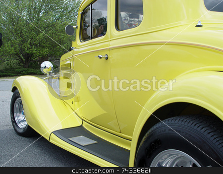 Antique car stock photo, Old antique car at a show dated 1940s by Jack Schiffer