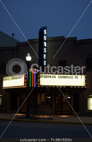 Small Town Iowa Theater stock photo, Small town single screen movie theaters like this one in Sumner, Iowa are making a comeback with community fundraisers, remodeling, and volunteer workers. by Dennis Thomsen
