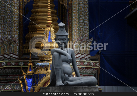 The Hermit Thailand Statue stock photo, Bangkok Thailand Statue by A Cotton Photo