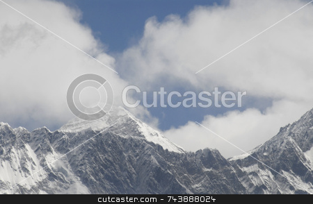 Mt. Everest Summit stock photo, Mt Everest Summit by A Cotton Photo