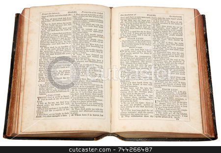 An old Bible published in 1868. stock photo, An old Bible published in 1868. by Stephen Rees
