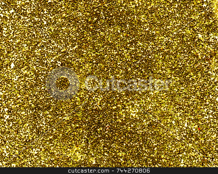 A macro close up of a gold glitter background. stock photo, A macro close up of a gold glitter background. by Stephen Rees