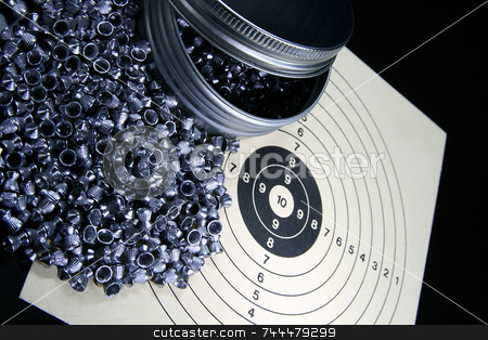 Pellets and target stock photo,  by Kjell Westergren