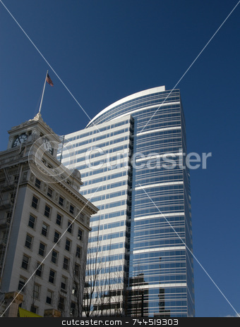 City building stock photo, A tall city building in Portland Oregon by Tim Markley