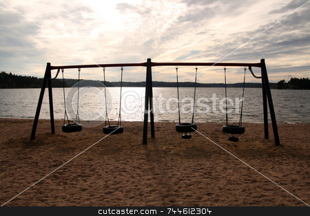 Swing stock photo,  by Kjell Westergren