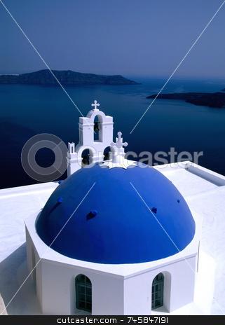Church Santorini, Greece stock photo, Greek Island Church, Santorini by Paul Phillips