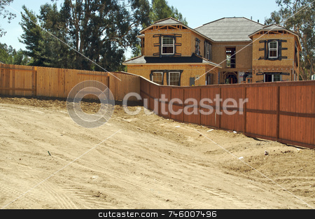 Home Construction Site stock photo, New Rural Home Construction Site by Andy Dean