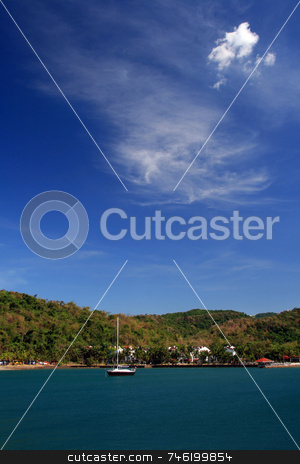 Calm waters stock photo, Sail boat on a calm sunny afternoon by Jonas Marcos San Luis