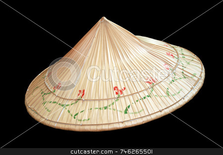Asian native hat stock photo, Asian native hat made from local leaves by Jonas Marcos San Luis