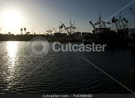 Ventura Harbor stock photo, Scene from the Ventura Harbor. by Brett Benham