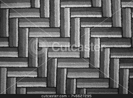 Pattern in Grays stock photo, A diagonal pattern of fabric in monochrome  tones of gray and black by Tom and Beth Pulsipher