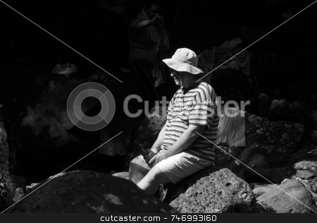 Man on the rocks stock photo,  by Aivlis Rios