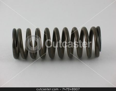 Spring Macro stock photo, Image of an automobile door spring that keeps the door ajar. by Ray Carpenter