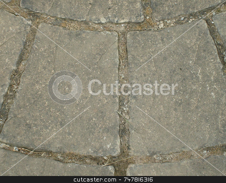 Crazy paving patio stone stock photo, Crazy paving patio stone detail. by Martin Crowdy