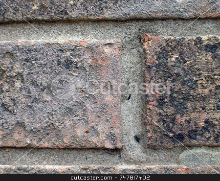 Close up of bricks on house stock photo, Close up of bricks on wall of house by Martin Crowdy