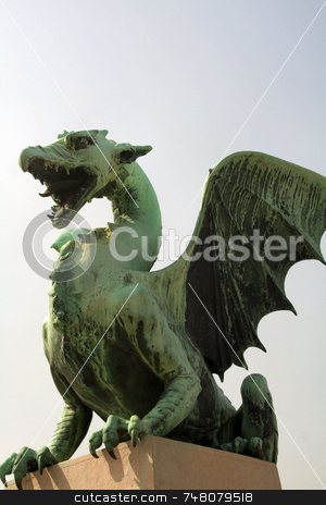 Dragon Statue stock photo,  by Greg Peterson