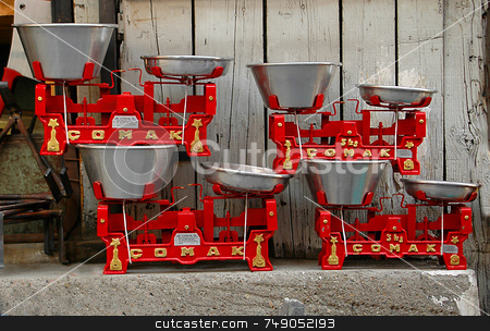 Scales stock photo, Scales in Samanpazari market in Anakara by Kobby Dagan