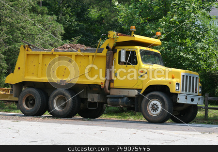 Dump Truck 2 stock photo, Yellow dump truck by Darryl Brooks