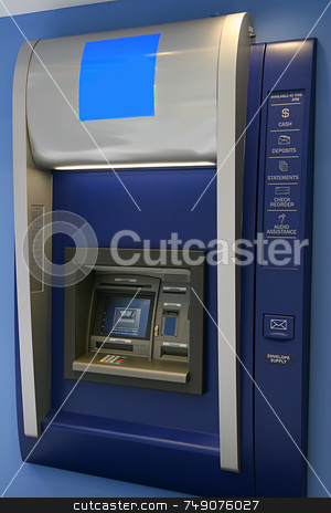 ATM stock photo, Modern indoor automatic teller machine at a bank by Darryl Brooks