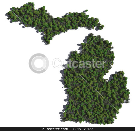 Michigan in Trees stock photo,  by Allan Tooley