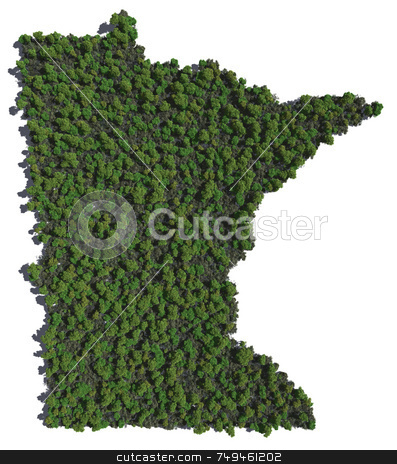 Minnesota in Trees stock photo,  by Allan Tooley