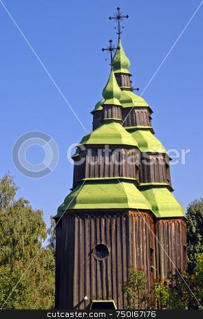 Ukranian church stock photo, Orthodox church in village near Kiev Ukraine by Kobby Dagan