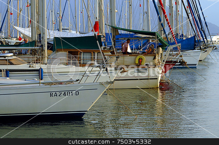 Yachtes stock photo, Yachtes in Marmaris marina by Kobby Dagan