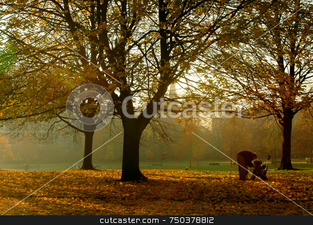Autumn stock photo, Autumn day in the park by Kobby Dagan