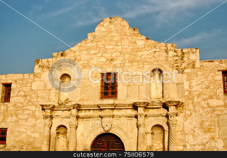 The Alamo stock photo, The Alamo located in San Antonio, Texas was the location of the great last stand by some of the biggest Texas Heroes. by Kevin Tietz