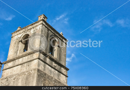 Stone Tower stock photo, A old historic stone tower reaching into the sky by Kevin Tietz
