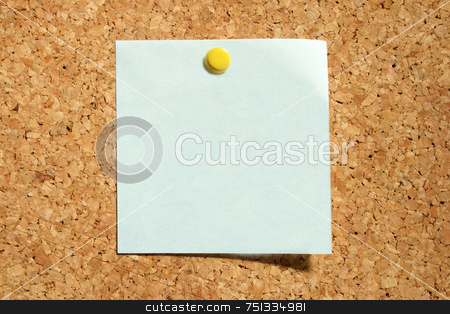 Blank blue note ready for text. stock photo, Blank blue note ready for text. by Stephen Rees
