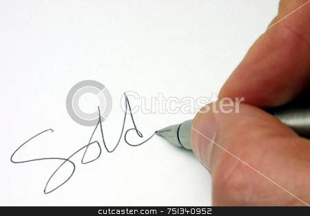 Writing sold stock photo, Writing sold by Stephen Rees