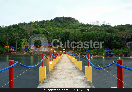 Pier 2 stock photo, A pier leading to resort in Palawan Philippines by Jonas Marcos San Luis