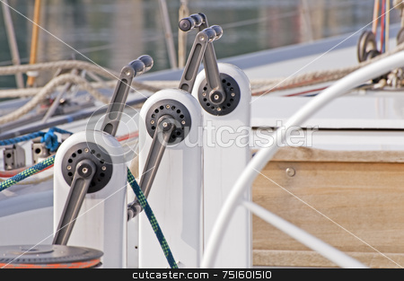 Grinders stock photo, Grinders used on a boat to pull on sails by Massimiliano Leban