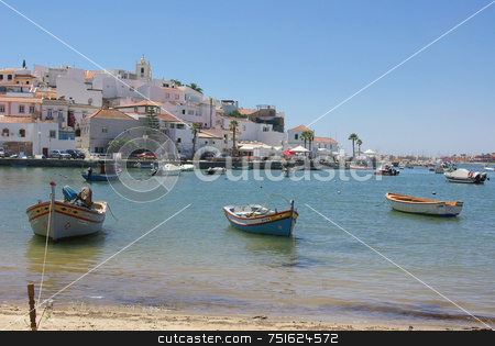 Ferragudo, Village of Algarve. stock photo, Ferragudo, Village of Algarve, Portugal. by Inacio Pires