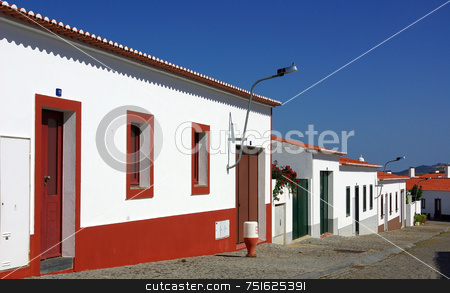 Traditional street in Alentejo. stock photo, Traditional street in Alentejo, south of Portugal.. by Inacio Pires