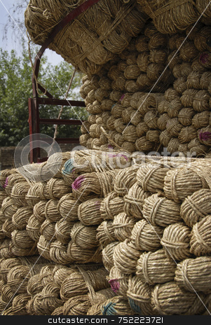 Bundles of Yarn stock photo, Yarn Truck by A Cotton Photo