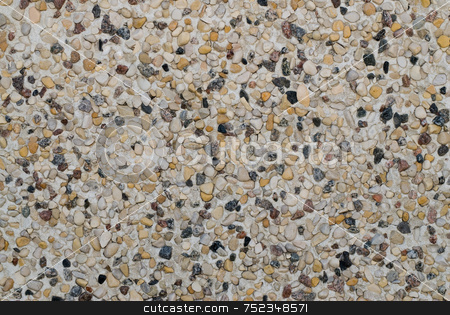 Stucco Background stock photo, A background of small rock or pebbles, used for siding on buildings by Richard Nelson