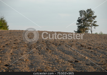 Tillage stock photo, A farmer's plowed field in the country by Joanna Szycik