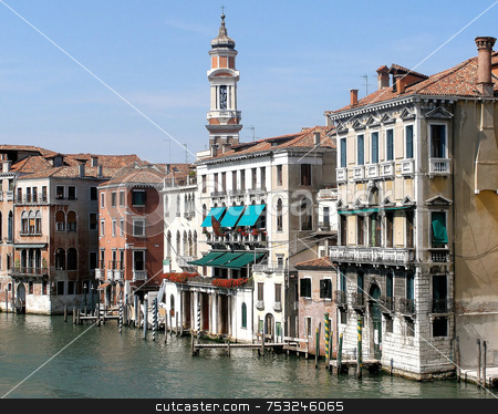 Venice Streets stock photo, The streets and waterways of venice italy. by Lucy Clark