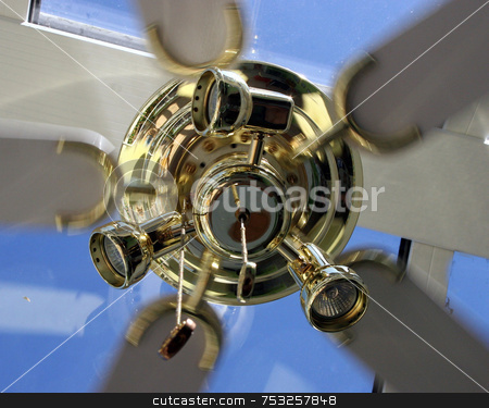 Movement of the Fan stock photo, A fan running in the hot weather by Lucy Clark