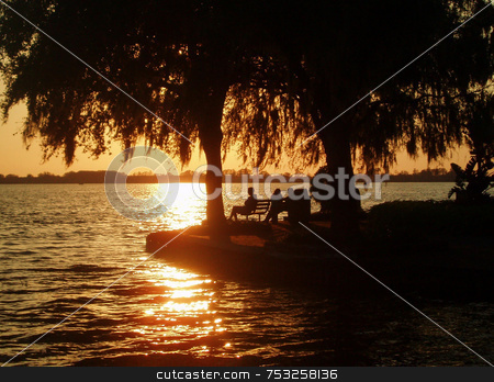 Romantic Sunset stock photo, Romance in a beauftiful sunset in Florida. by Lucy Clark