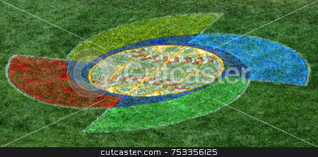 Baseball Logo stock photo, A Logo on a Baseball Pitch by Lucy Clark