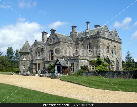 Old House stock photo, Old stately home in the UK for tourists by Lucy Clark
